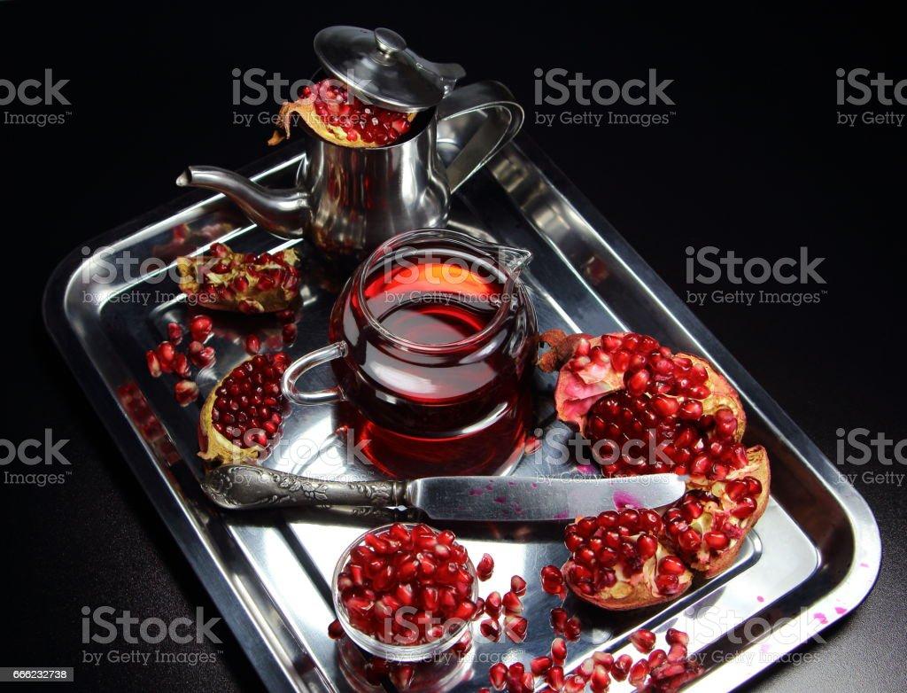 гранатовый сок stock photo