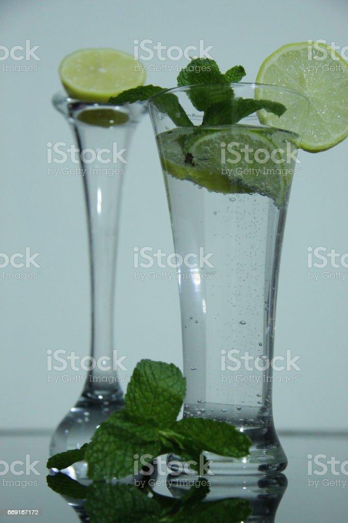 LEMON WATER-CITRUS-DRINK-HEALTHY DRINK stock photo