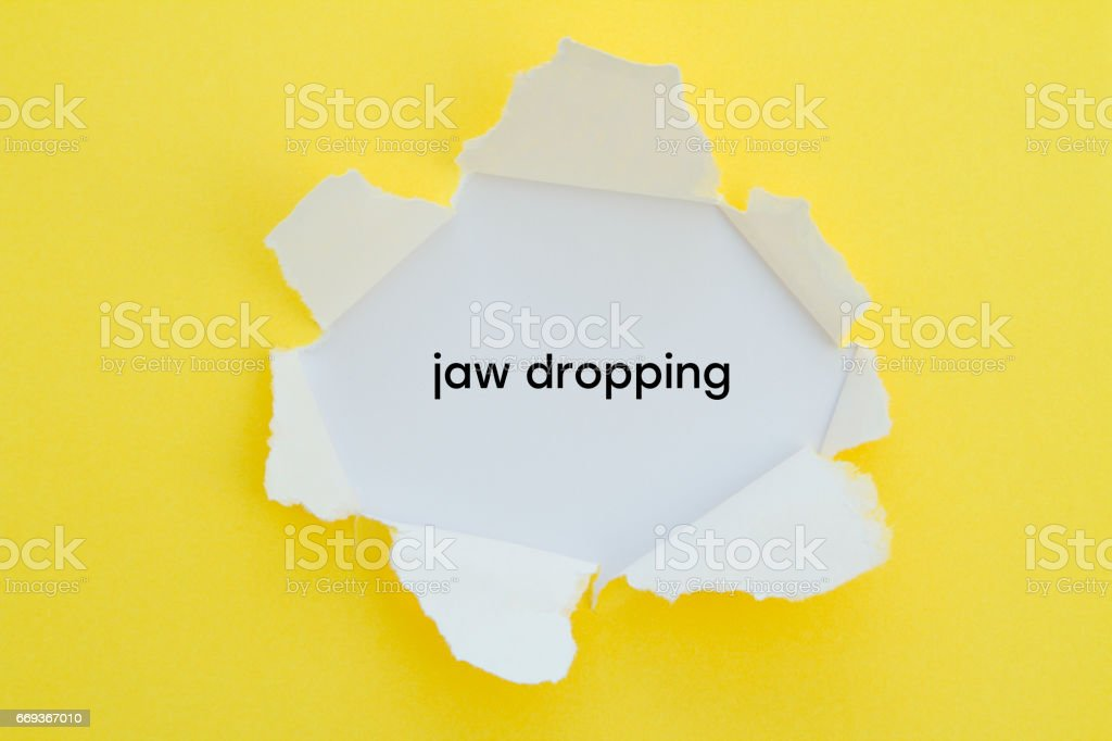 JAW DROPPING stock photo
