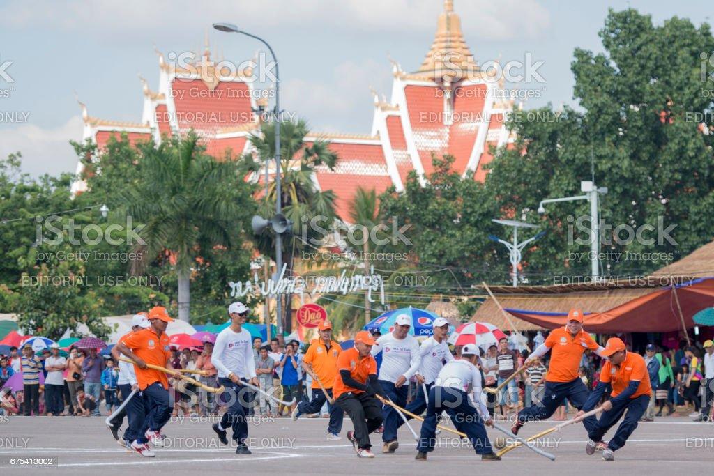 LAOS VIENTIANE LAO HOCKEY TIKHY stock photo