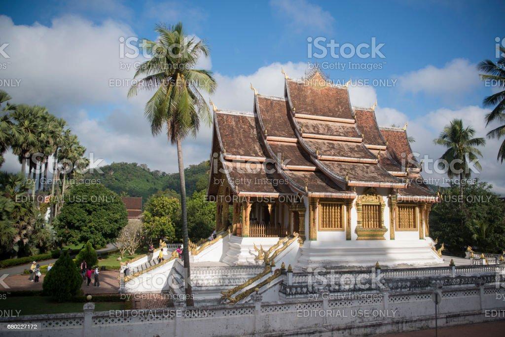 LAOS LUANG PRABANG WAT HO PHA BANG ROYAL PALACE stock photo