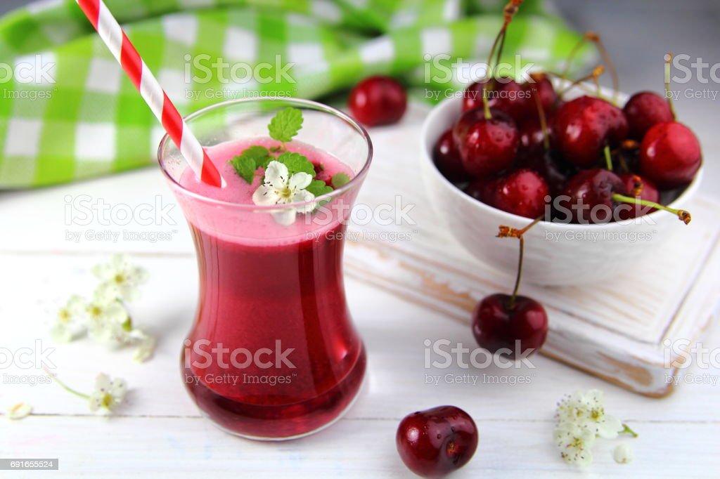 сок из черешни stock photo