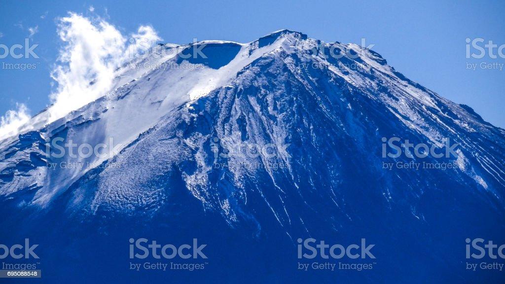 日本 雪景色 世界遺産 富士山 冬 stock photo