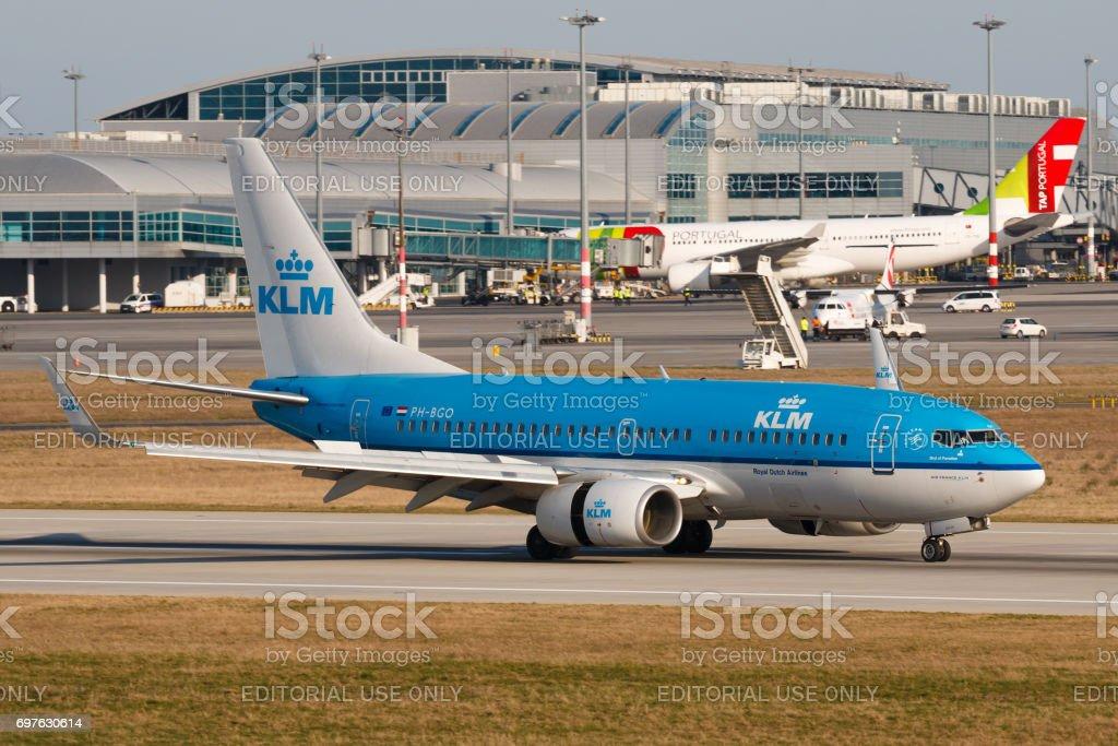 KLM stock photo