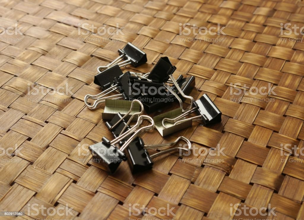 FOLD BACK CLIPS stock photo