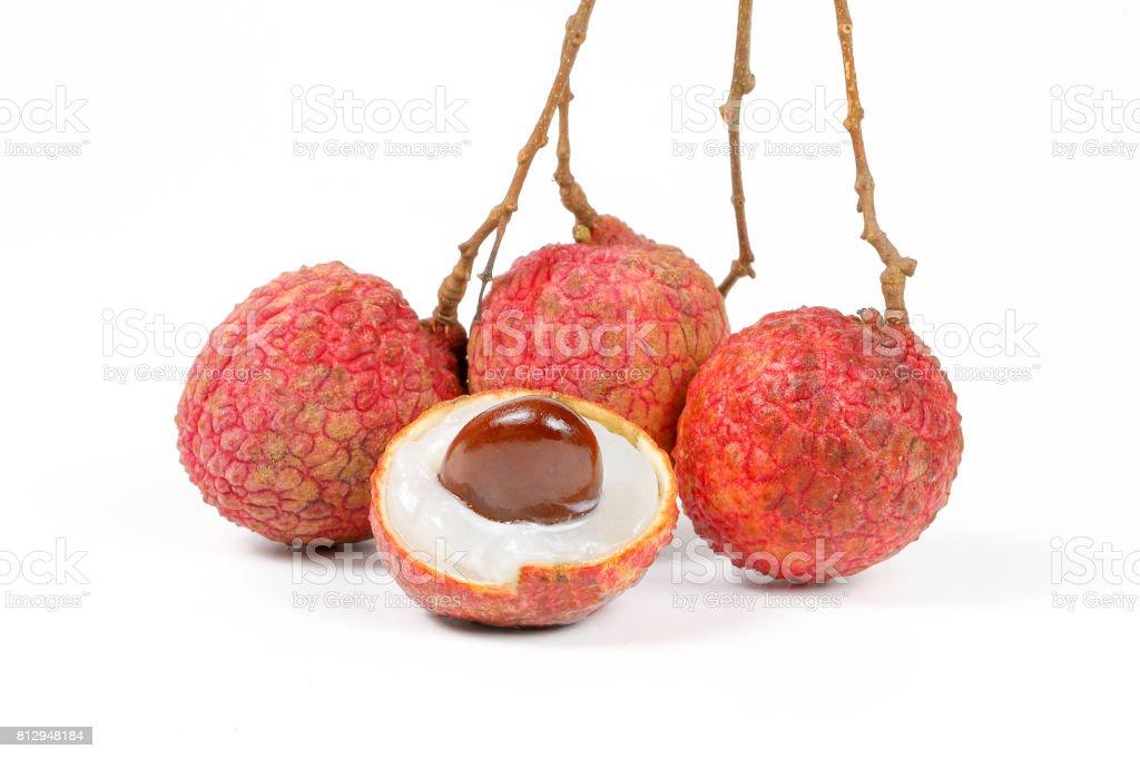 LYCHEE FRUIT stock photo