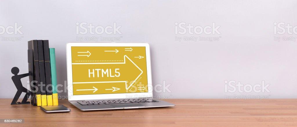 HTML5 CONCEPT stock photo