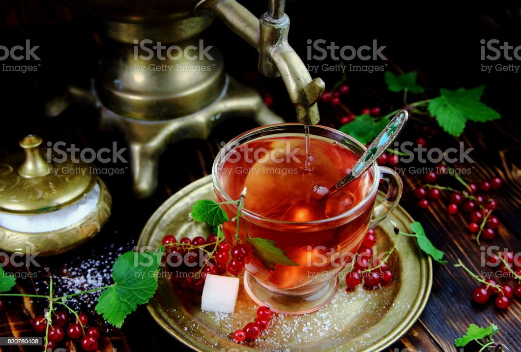чай из смородины stock photo