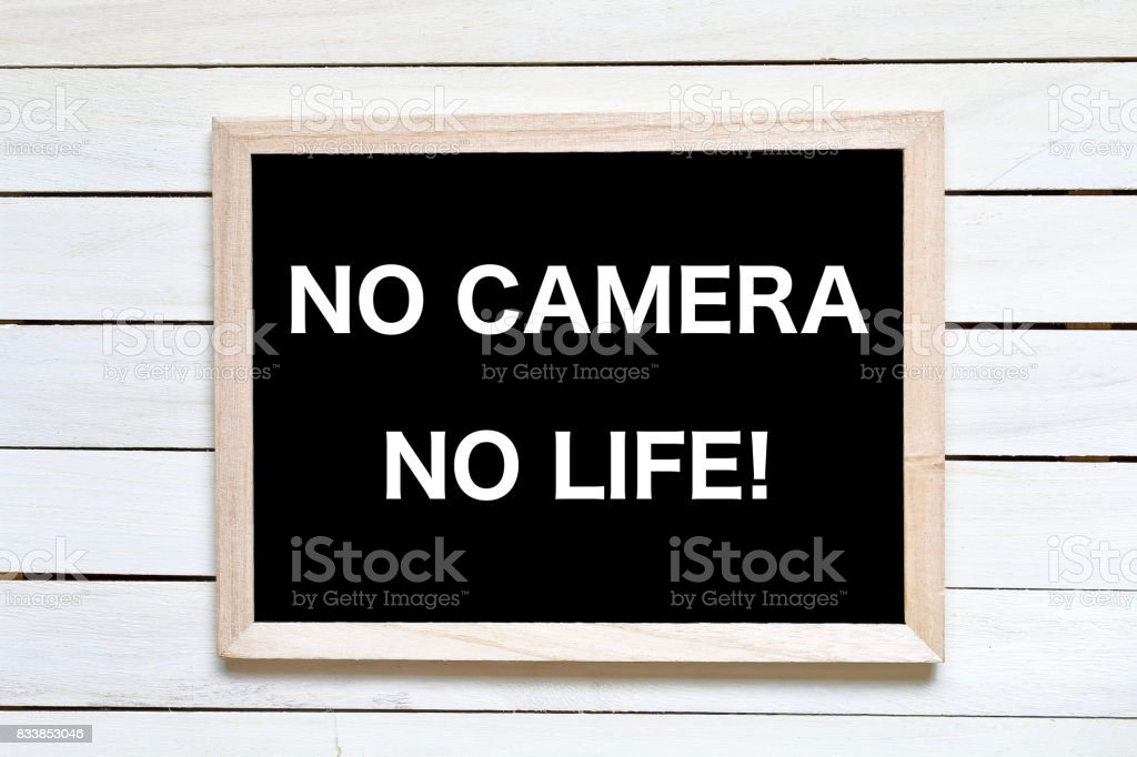 NO CAMERA NO LIFE! stock photo