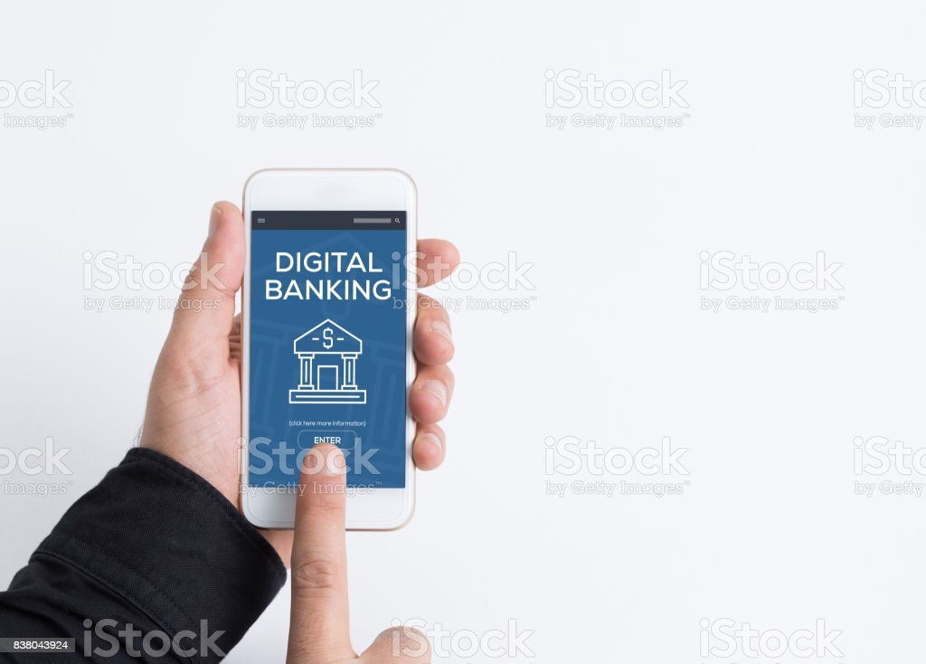 DIGITAL BANKING CONCEPT stock photo