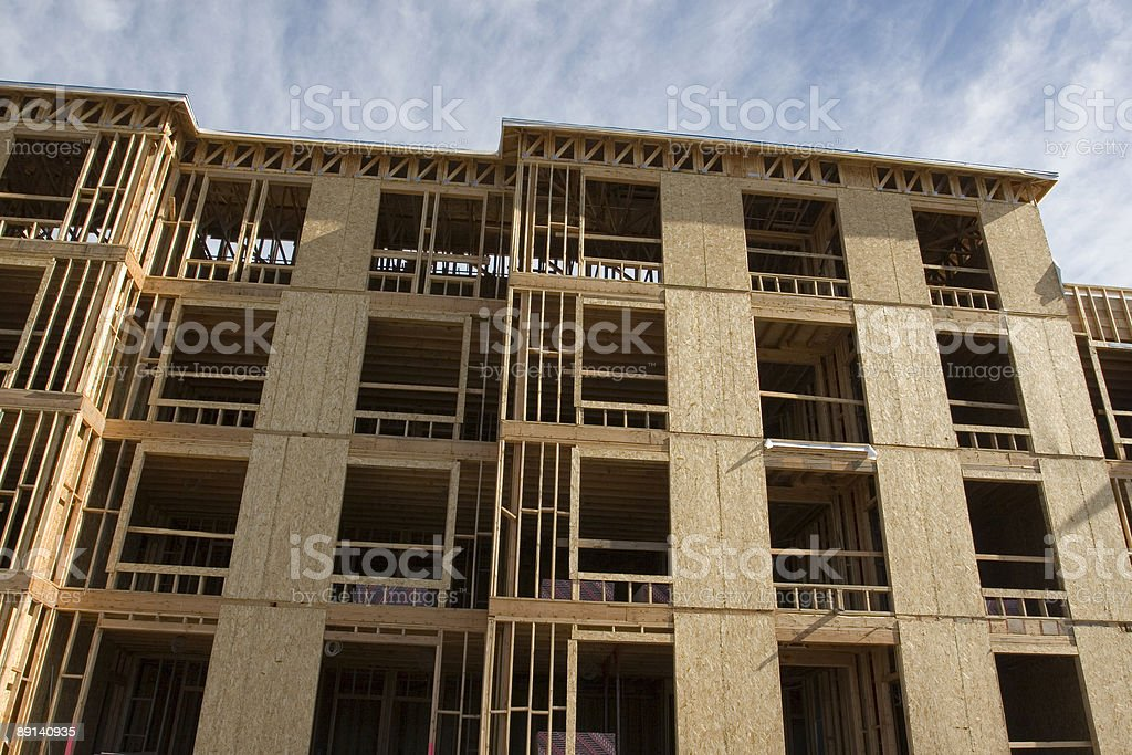 NEW BUILDING UNDER CONSTRUCTION royalty-free stock photo