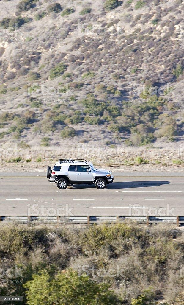 SUV ROAD TRIP (vert) stock photo