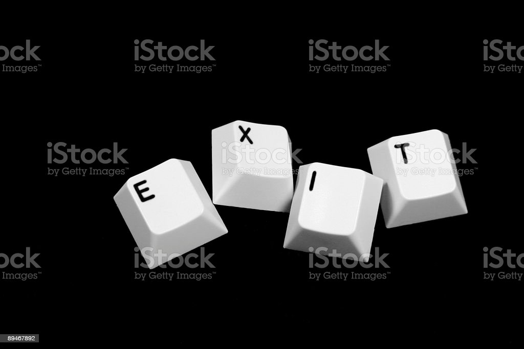 EXIT royalty-free stock photo