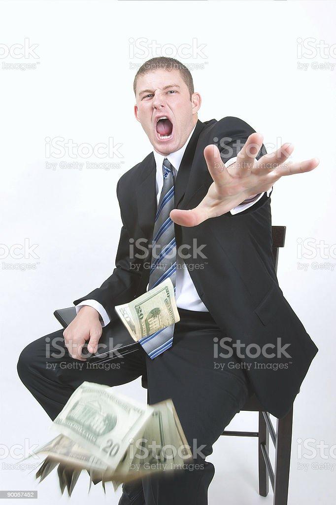 TAKE YOUR MONEY!!! stock photo