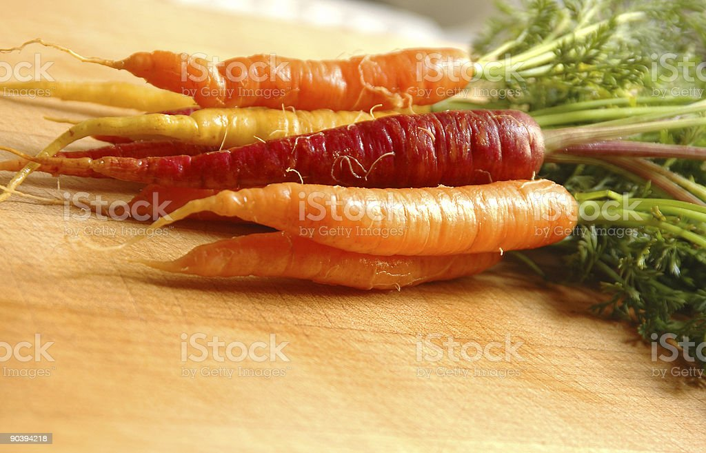 RAINBOW CARROTS 3 royalty-free stock photo