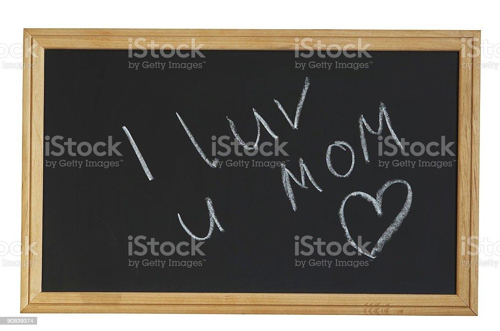 I LOVE YOU MOM! royalty-free stock photo