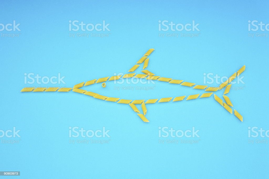 NOODLE FISH royalty-free stock photo