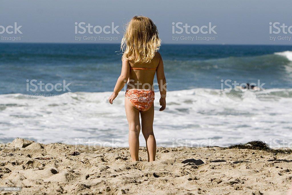 LITTLE GIRL IN BIKINI royalty-free stock photo