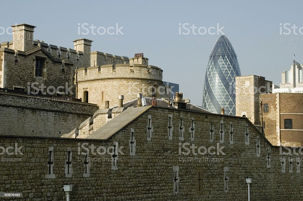 SWISS RE BUILDING royalty-free stock photo