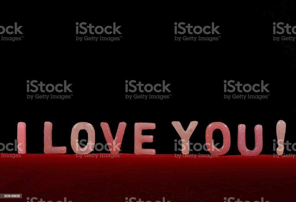 I LOVE YOU!! stock photo