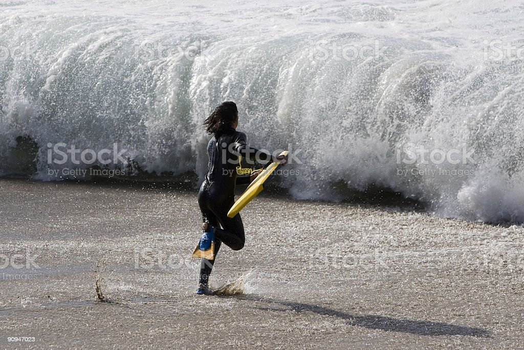 BOADY BOARDER CHARGING stock photo
