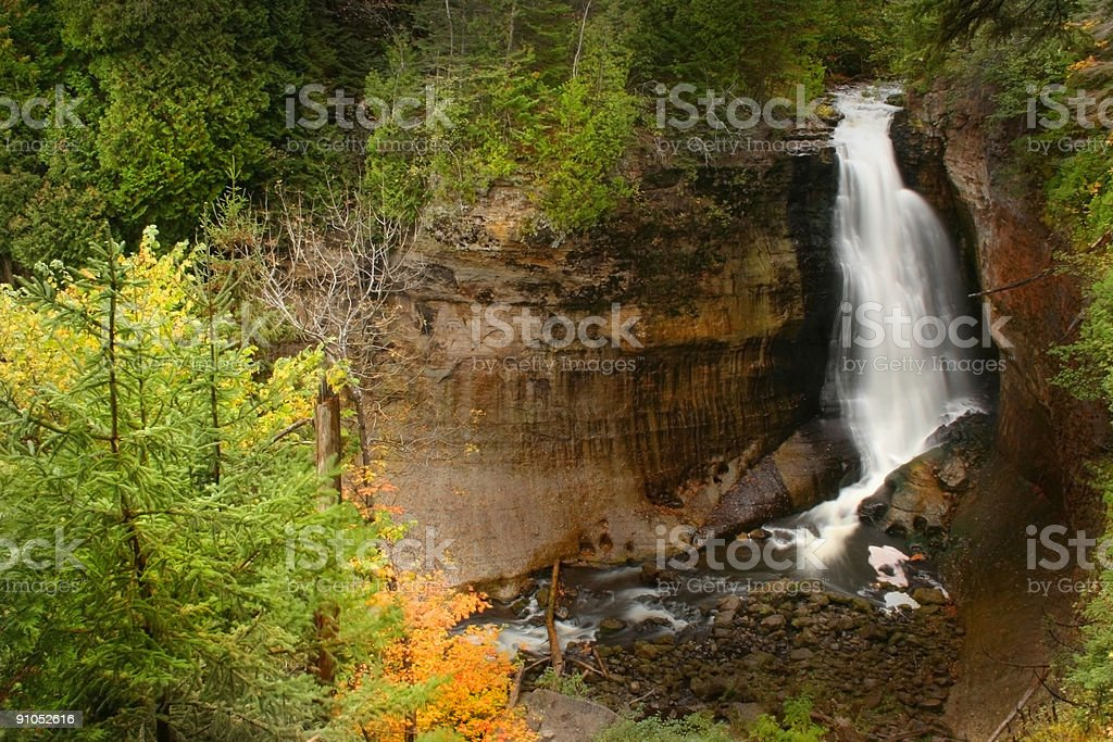 MINER'S FALLS royalty-free stock photo