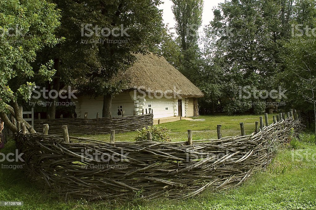 AGED HOUSE royalty-free stock photo