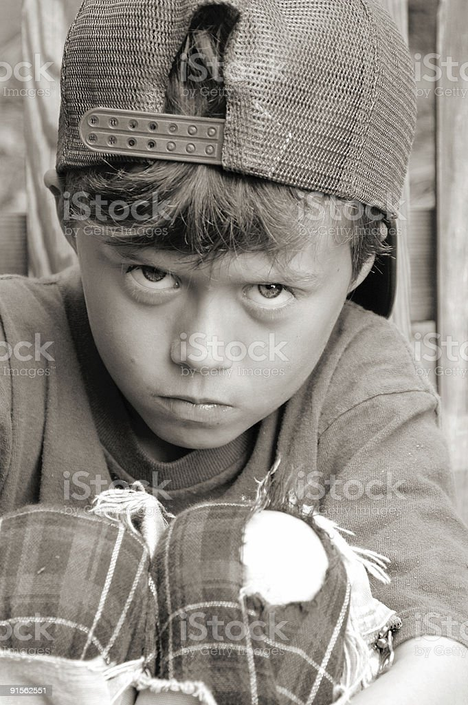 ANGRY BOY royalty-free stock photo