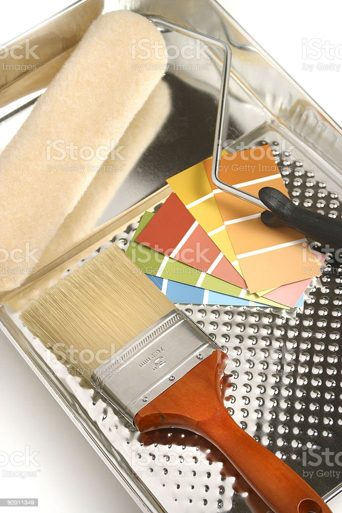 PAINT SUPPLIES royalty-free stock photo