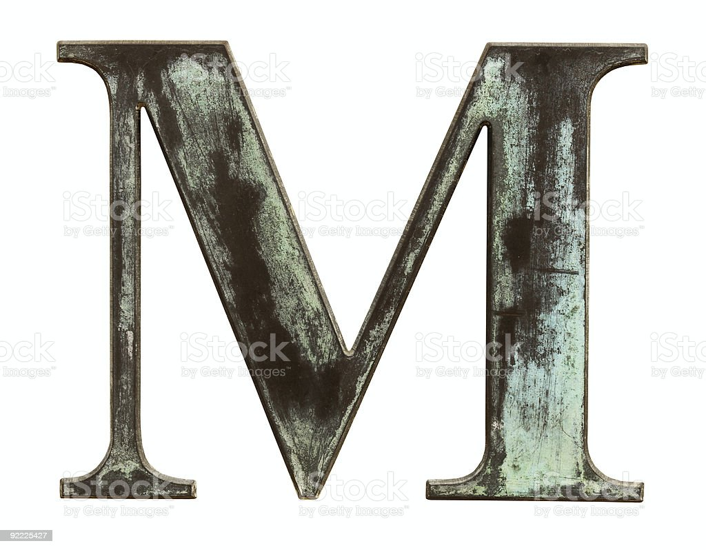 M royalty-free stock photo