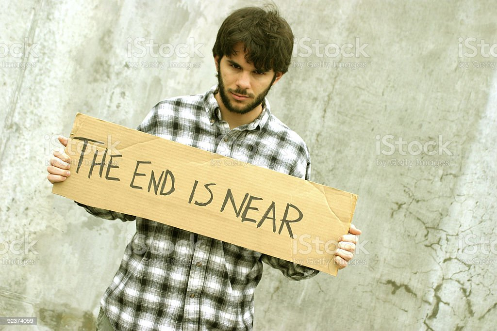 THE END IS NEAR royalty-free stock photo