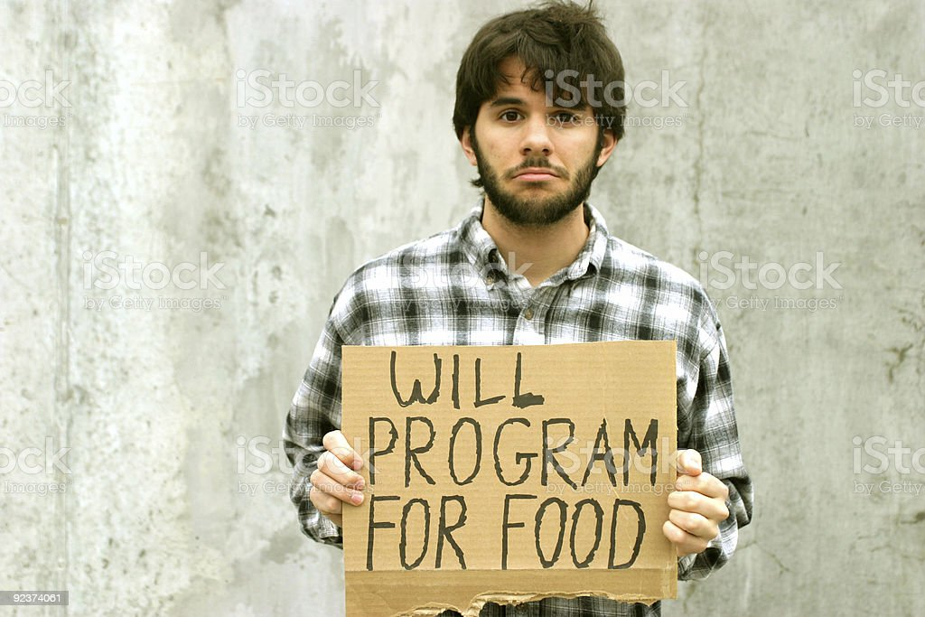 WILL PROGRAM FOR FOOD stock photo