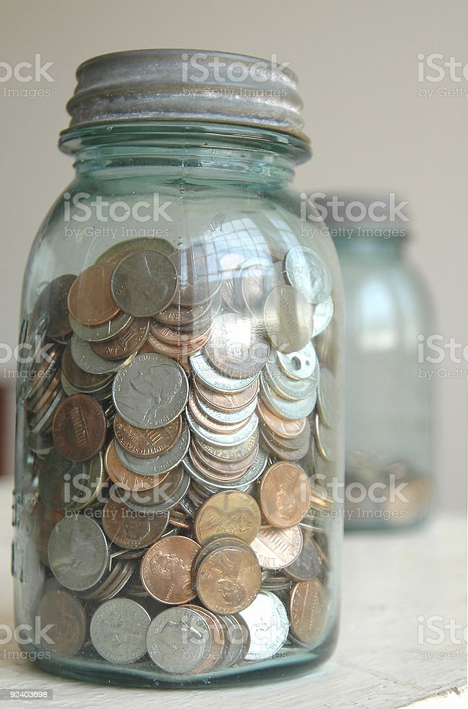 SPARE CHANGE royalty-free stock photo
