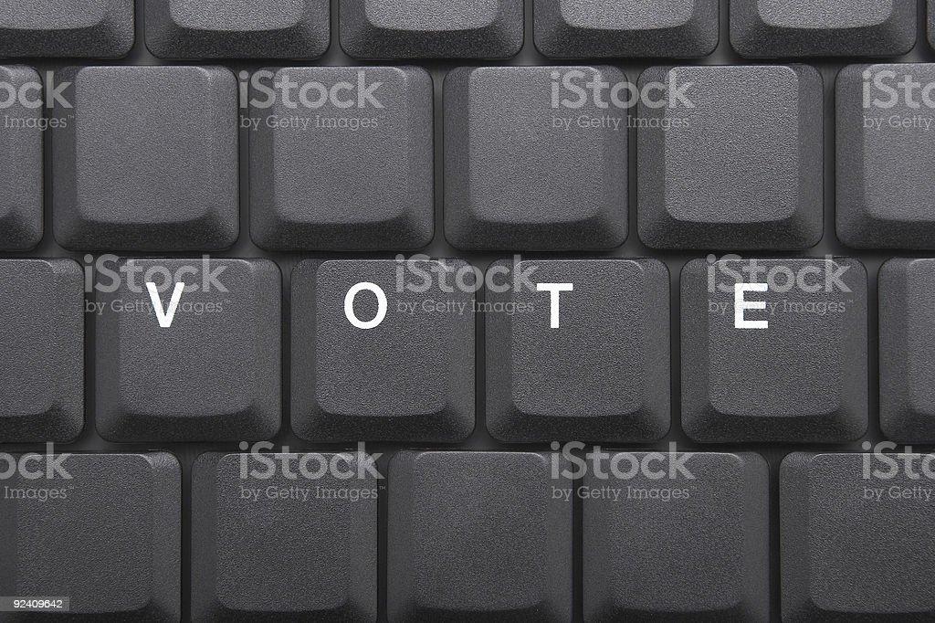 KEYBOARD - VOTE royalty-free stock photo