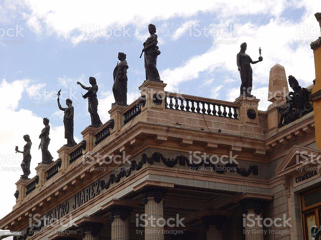 THEATER JUAREZ IN GUANAJUATO royalty-free stock photo