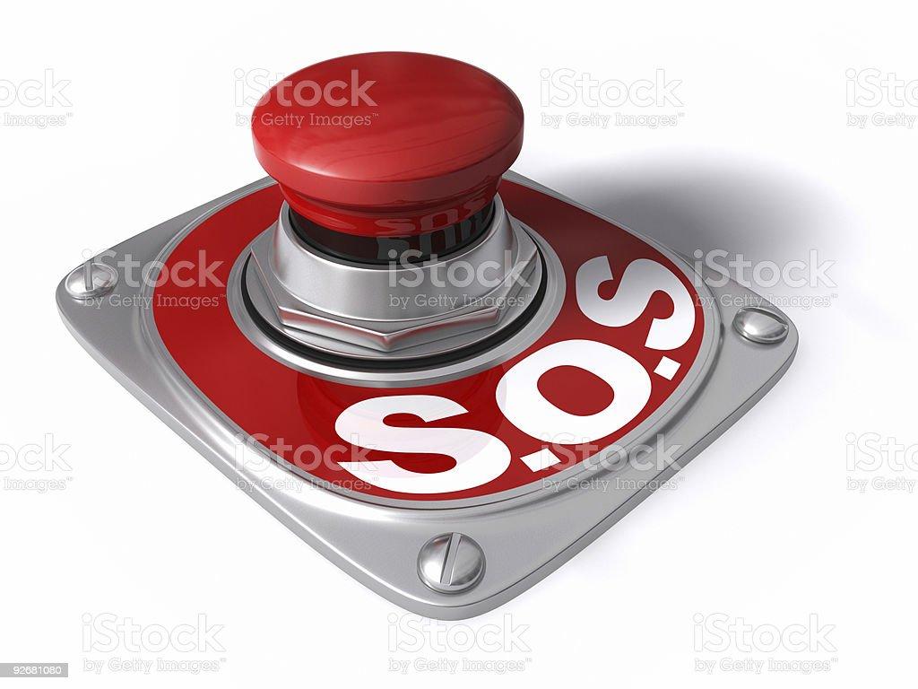 S.O.S. stock photo
