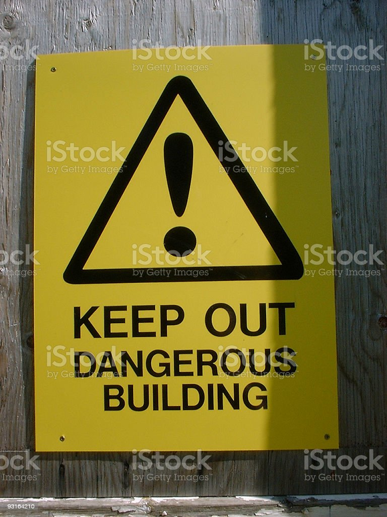 KEEP OUT royalty-free stock photo