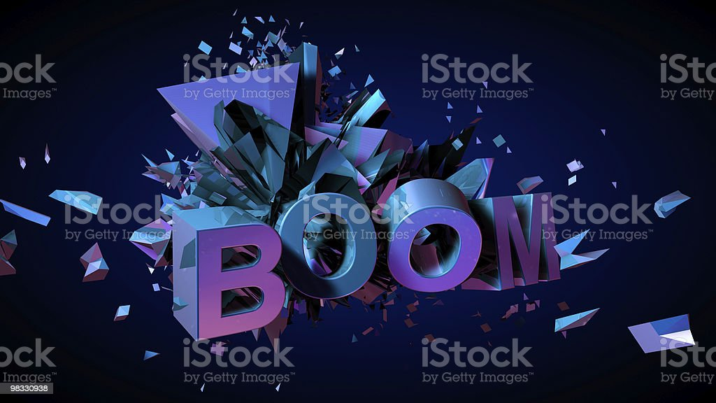 BOOM royalty-free stock photo