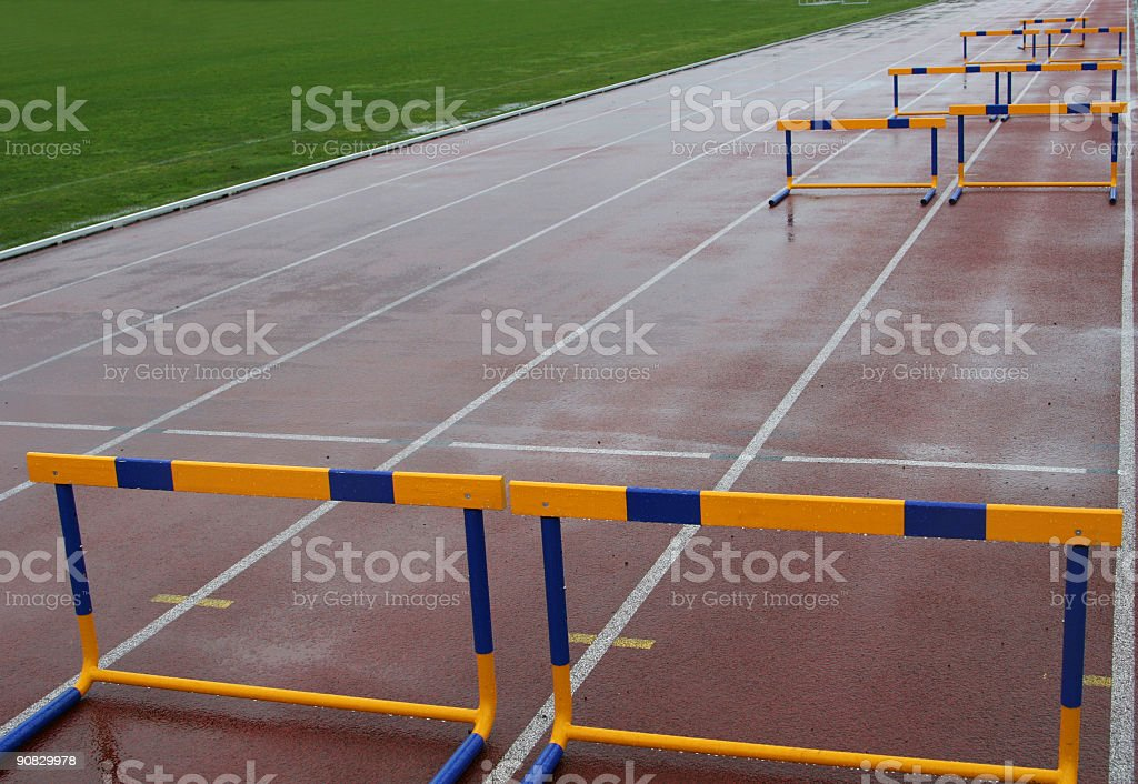 100m hurdles royalty-free stock photo