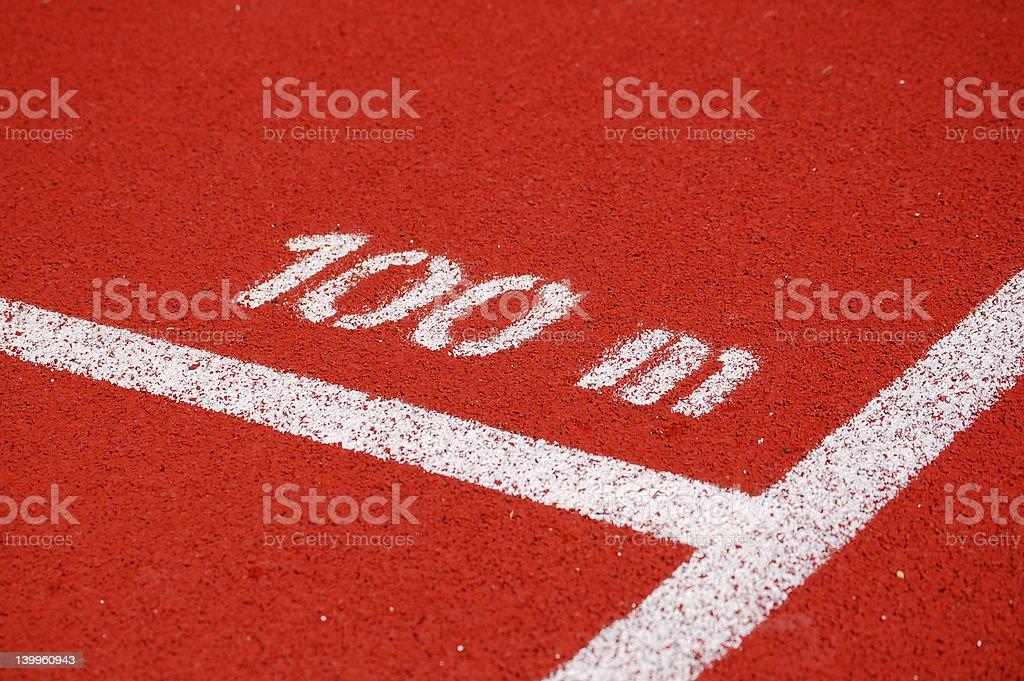 100m Running Track royalty-free stock photo