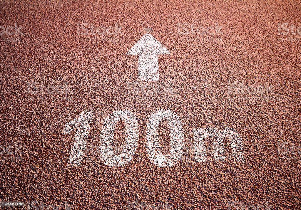 100m Running Track stock photo