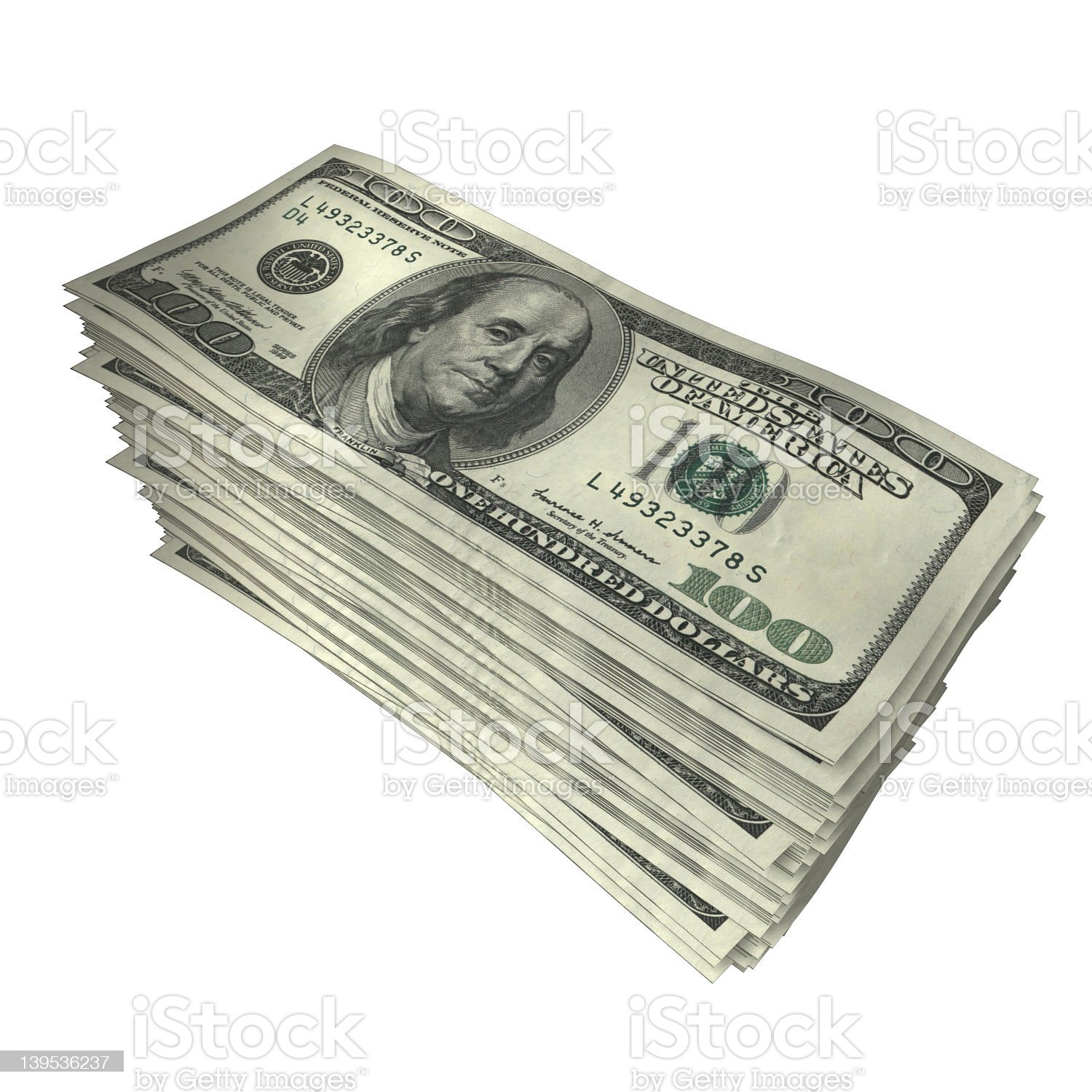 100Stack royalty-free stock photo