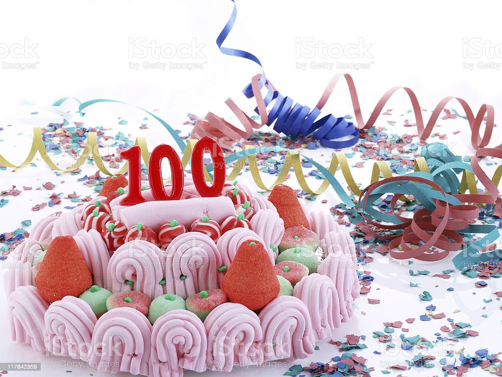100th. Anniversary royalty-free stock photo