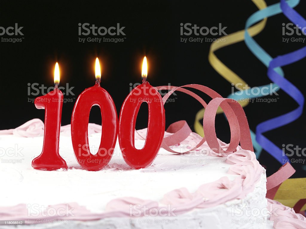 100th. Anniversary stock photo