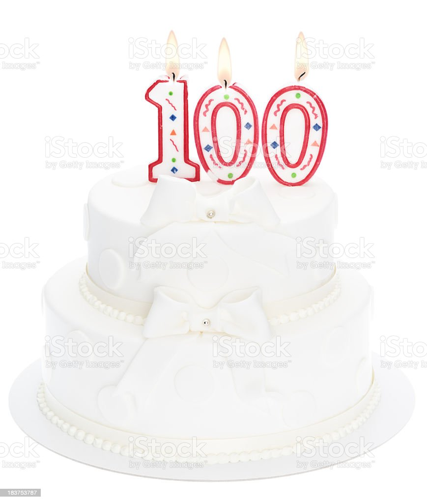 100th anniversary royalty-free stock photo