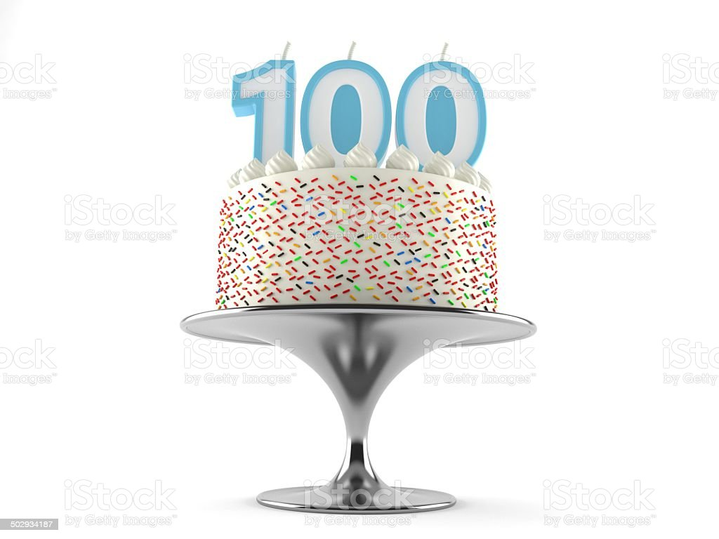 100th birthday stock photo