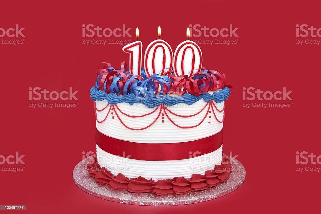 100th Cake stock photo