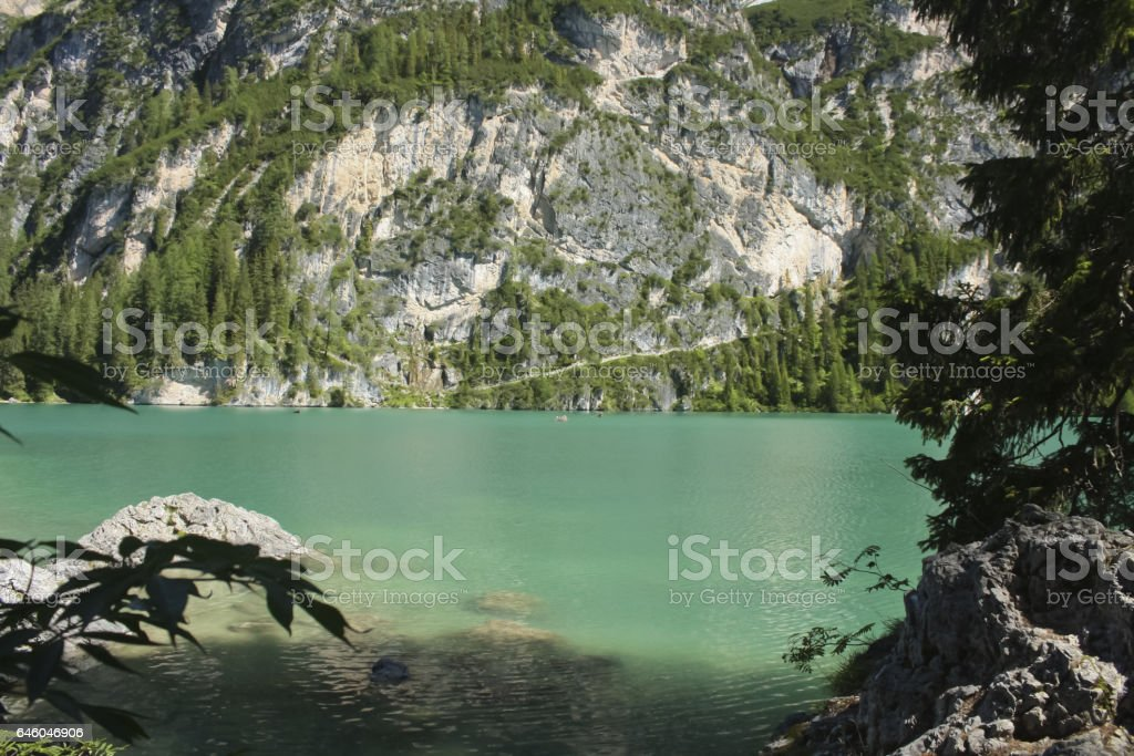 102_Braies Lake stock photo