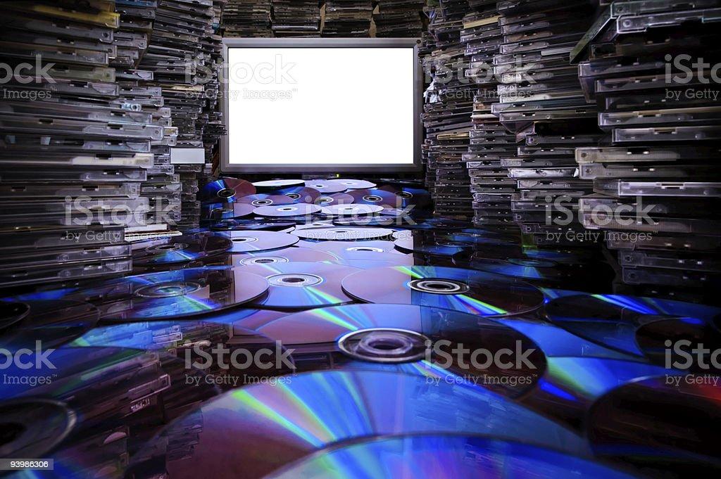 Сd Dvd Blu Ray Discs. stock photo