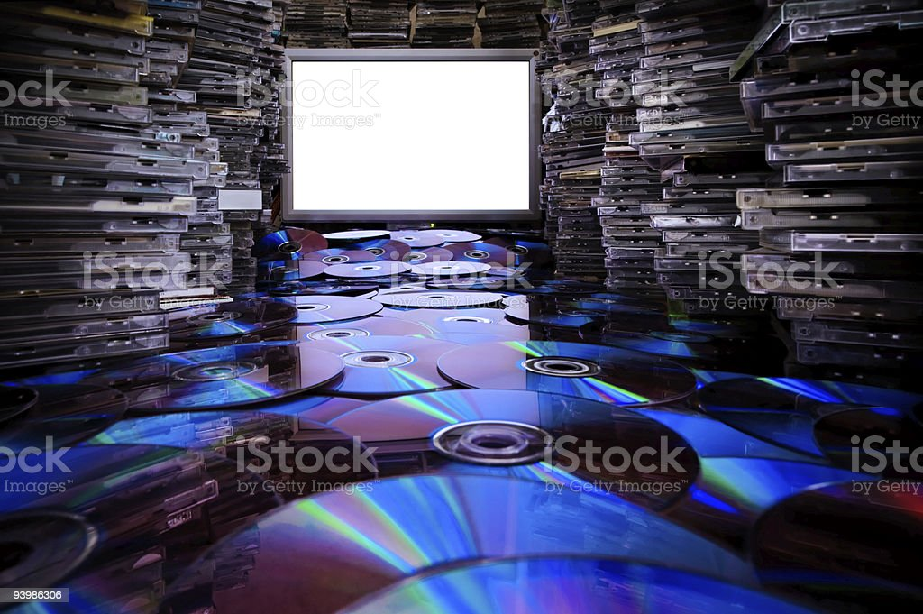 Сd Dvd Blu Ray Discs. stock photo